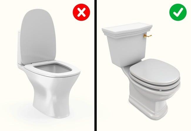 Tuvaletin sifonunu kapak açıkken çekmek