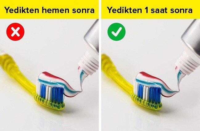 yemek yedikten sonra diş fırçalama