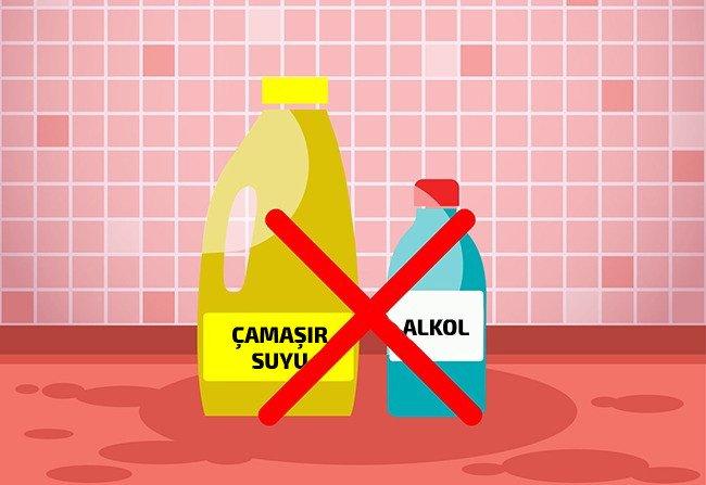 çamaşır suyu alkol