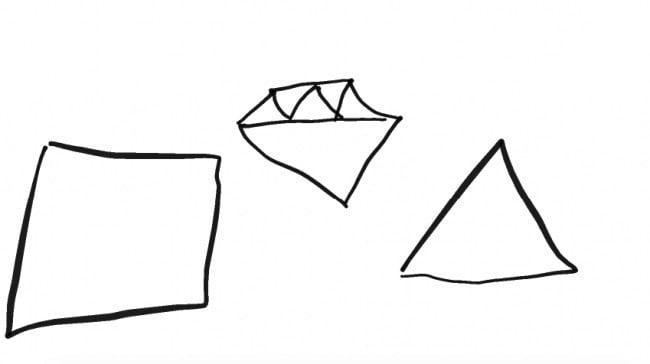 kareler elmaslar ve diğer geometrik figürler