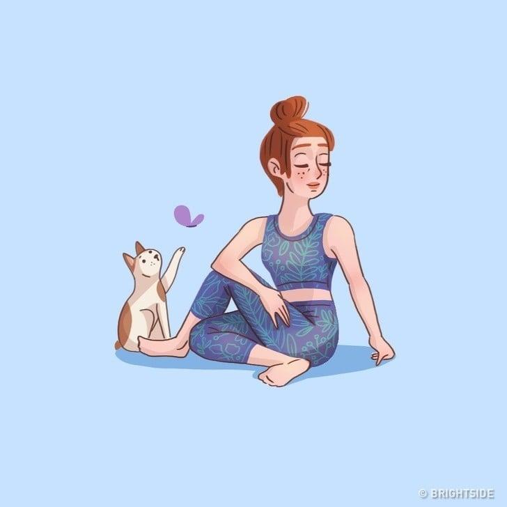 kedi ve kadın
