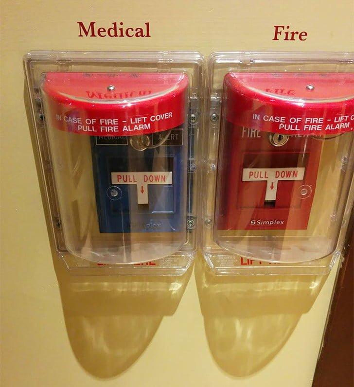 tıbbi ve yangın acil durum butonu