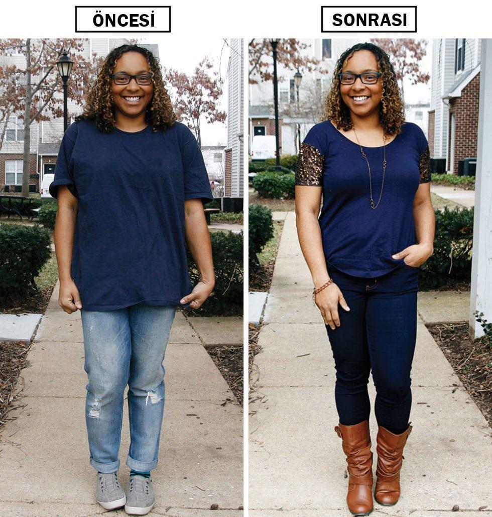 zayıf ve kilolu kadın