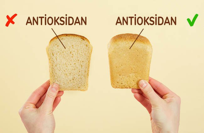 ekmek kenarlarında antioksidan