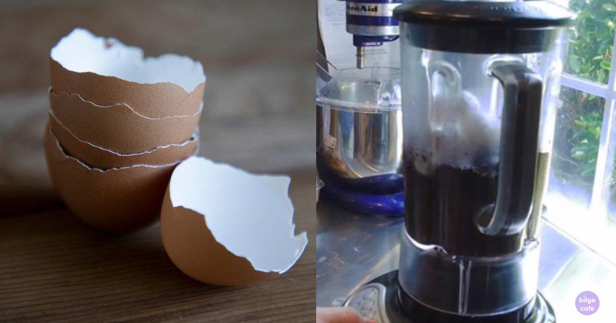 kahve telvesi ve yumurta kabuğu