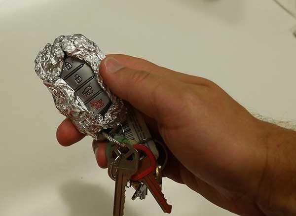 alüminyum folyo araba anahtarı