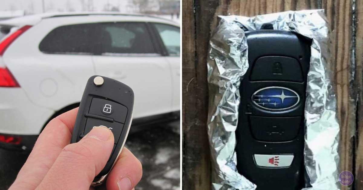 aracınızın anahtarını aluminyum folyo ile neden sarmalısınız