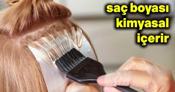 saç boyası kimyasal içerir