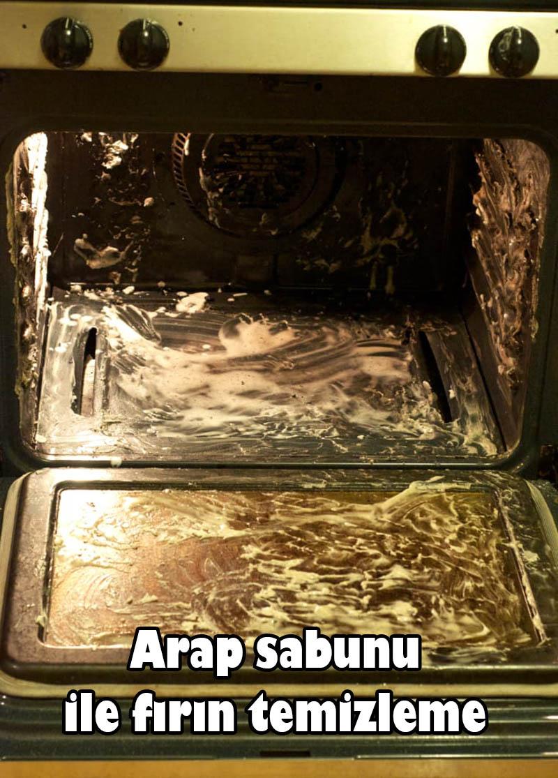 Arap sabunu ile fırın temizleme
