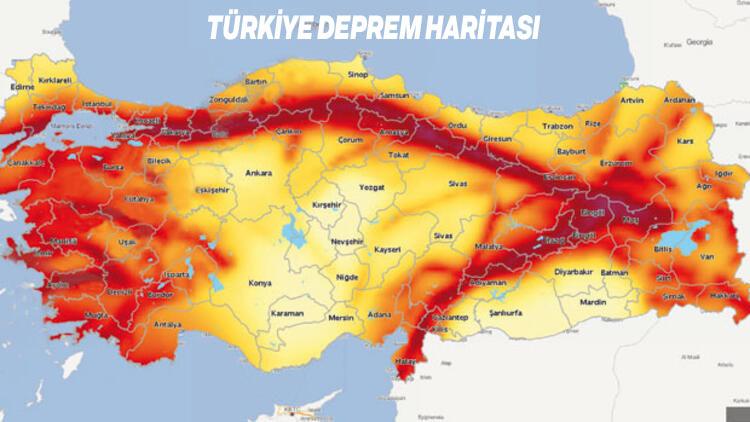 turkiye deprem haritasi