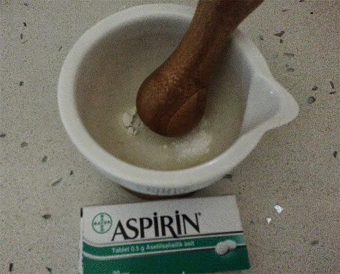 aspirin limon maskesi